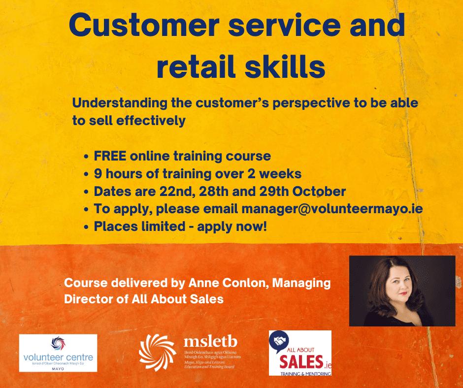 Customer service; retail skills
